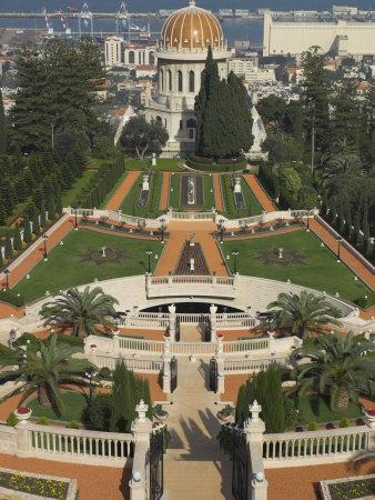 Bahai Shrine and Gardens, Haifa, Israel, Middle East