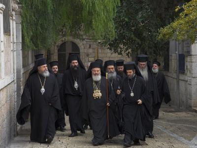 Ceremony for the New Greek Orthodox Patriarch in Jerusalem, Old City, Israel