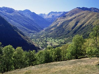 Valley Close to Castillion De Larboust, French Side of the Pyrenees, Midi Pyrenees, France
