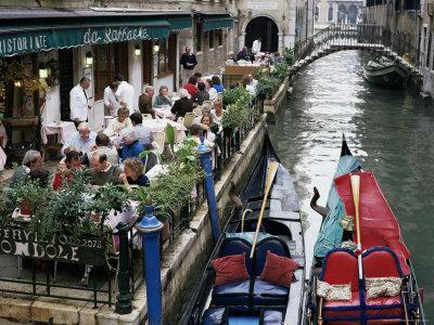 Canalside Restaurant, Venice, Veneto, Italy