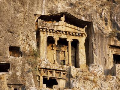 Tomb of Amyhias, Lycian Rock Cut Tomb, Dating from 350 Bc, Near Fethiye, Anatolia, Turkey