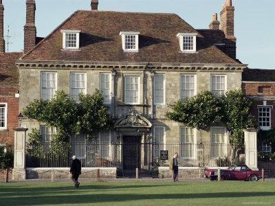 Mompesson House in the Cathedral Precinct, Salisbury, Wiltshire, England, United Kingdom