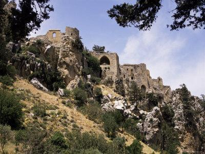 St. Hilarion Castle Perched Upon One of Highest Peaks of Kyrenia Chain, North Cyprus, Cyprus