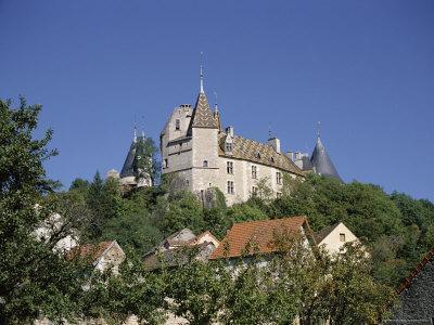Chateau De Rochepot, Near Beaune, Bourgogne (Burgundy), France