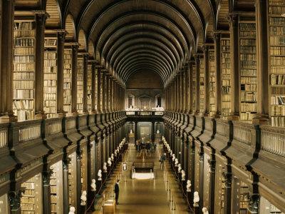 Interior of the Library, Trinity College, Dublin, Eire (Republic of Ireland)
