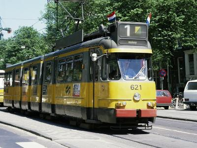 Trams Take Precedence Over All Traffic Except Cycles, Amsterdam, Holland