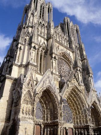 West Front of Reims Cathedral, Dating from 13th and 14th Centuries, France
