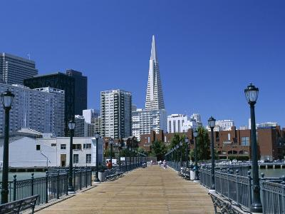 The Embarcadero Center and the Transamerica Pyramid, San Francisco, California, North America