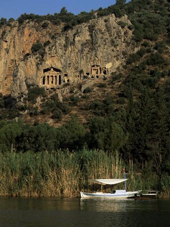 Lycian Rock Tombs, Carian, Dalyan, Mugla Province, Anatolia, Turkey, Eurasia