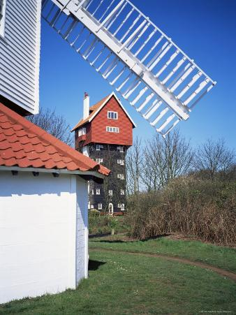 House in the Clouds, with Mill Sail, Thorpeness, Suffolk, England, United Kingdom