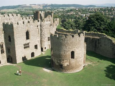 Round Church and Great Hall, Ludlow Castle, Shropshire, England, United Kingdom