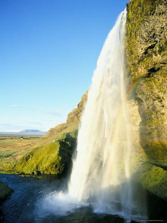 Seljalandsfoss Waterfall, Southern Area, Iceland, Polar Regions