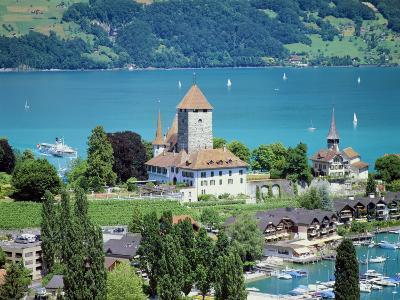 View of Spiez Over Lake Thun, Swiss Lakes, Switzerland