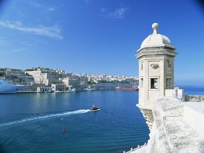 Valletta Viewed Over the Grand Harbour, Malta, Mediterranean