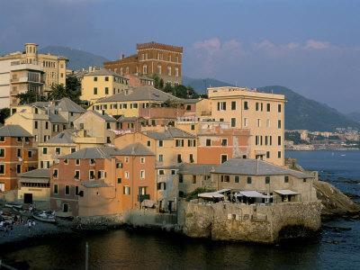 Boccadasse Quarter, Genes, Genova (Genoa), Liguria, Italy