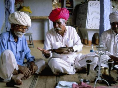 Opium Ceremony, Village Near Jodhpur, Rajasthan State, India