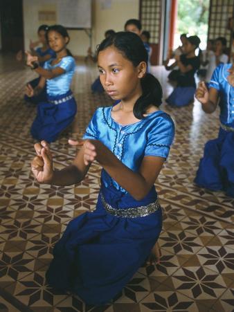 Apsara Dance, Khmer Dance School, Phnom Penh, Cambodia, Indochina, Southeast Asia