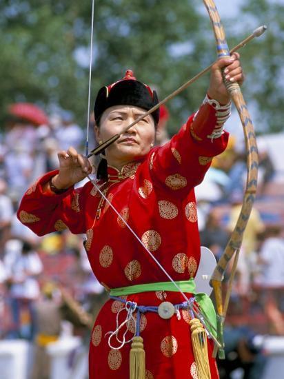 Archery Contest Naadam Festival Oulaan Bator Ulaan
