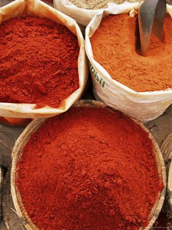 Spices, Tinerhir Souk, Ouarzazate Region, Morocco, North Africa, Africa