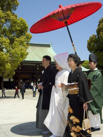 Traditional Wedding Ceremony, Meiji Jingu Shrine, Tokyo City, Honshu Island, Japan