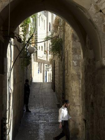 Jewish Man in Traditional Clothes, Old Walled City, Jerusalem, Israel, Middle East