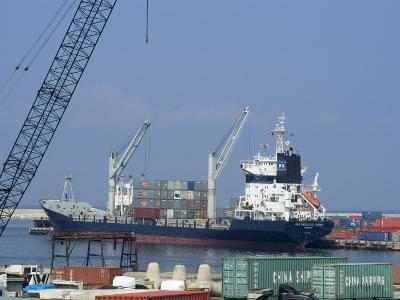Container Ships in Port Area, Lattakia, Syria, Middle East