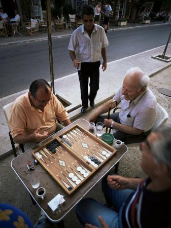 Backgammon, Kalamitsi, Peloponnese, Greece