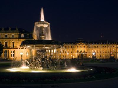 Neues Schloss at Schlossplatz (Palace Square), Stuttgart, Baden Wurttemberg, Germany