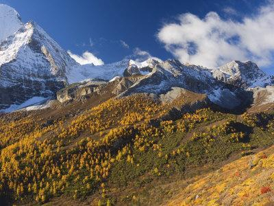 Xiannairi Mountain, Yading Nature Reserve, Sichuan Province, China