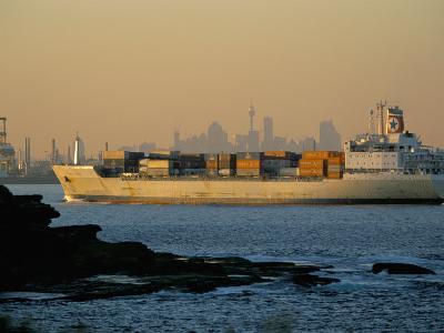 Container Ship Entering Botany Bay, Sydney, Australia