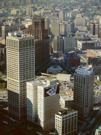 Tower Blocks, Downtown, Detroit, Michigan, United States of America (Usa), North America