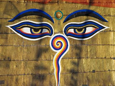 The Eyes on the Buddhist Stupa of Swayambhu, Kathmandu, Unesco World Heritage Site