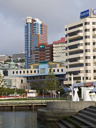 Modern Architecture Around the Civic Square, Wellington, North Island, New Zealand