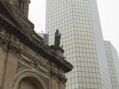 Metropolitan Cathedral, Plaza De Armas, Santiago, Chile, South America