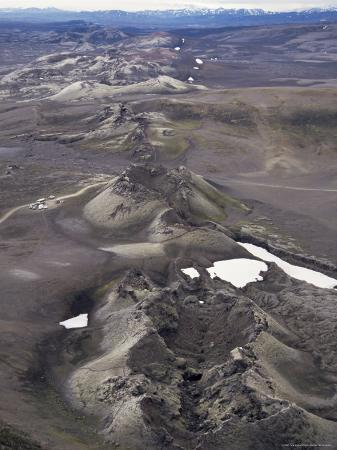 Fissure Vent with Spatter Cones, Laki Volcano, Iceland, Polar Regions