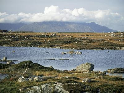 The Twelve Pins Mountains Rise Above Loughans on the Lowland, Connemara, County Galway, Eire