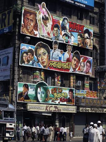 Film Advertisment Hoardings, Kolkata, (Calcutta), India