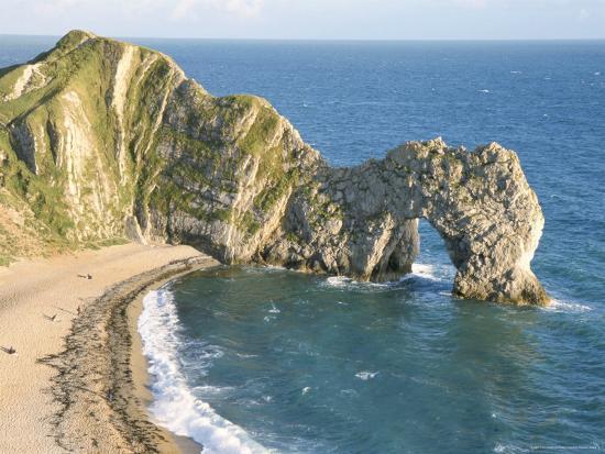 Wave Cut Arch In Limestone Headland Durdle Door Jurassic