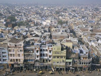Centre of Old Delhi, Seen from Minaret of Jamia Mosque, Delhi, India