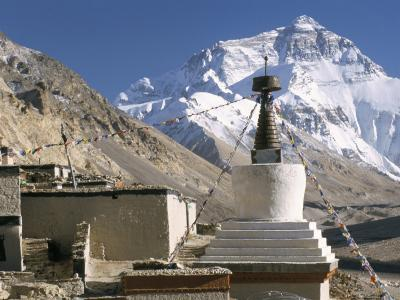 North Side of Mount Everest (Chomolungma), from Rongbuk Monastery, Himalayas, Tibet, China