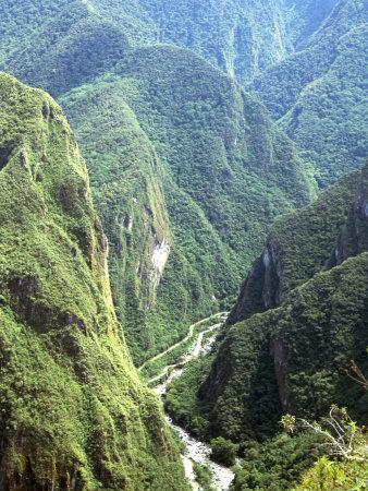 Granite Gorge of Rio Urabamba, Seen from Approach to Inca Ruins, Machu Picchu, Peru, South America
