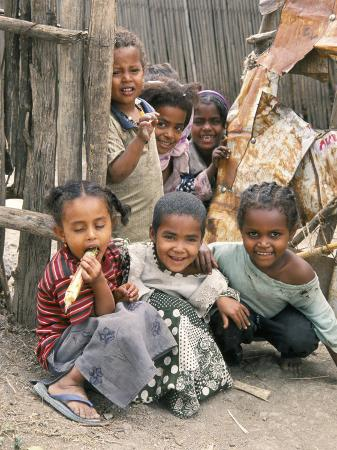 Village Children in Bati, Northern Highlands, Ethiopia, Africa