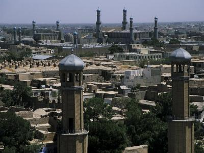 View from the Citadel with the Friday Mosque in the Background, Herat, Afghanistan
