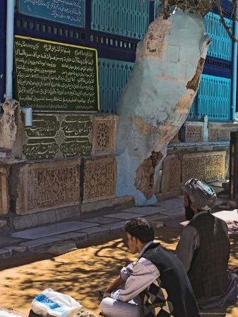 Pilgrims in Front of Tomb of the 11th Century Sufi Poet Abdullah Ansari