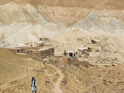 Man Walking up Mountain Road, Between Herat and Maimana, after Subzak Pass, Afghanistan