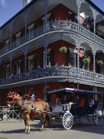 Horse and Carriage in the French Quarter, New Orleans, Louisiana, USA
