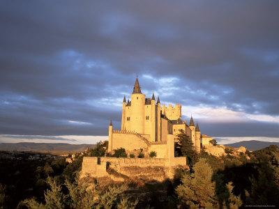 The Alcazar at Sunset, Segovia, Castilla Y Leon, Spain
