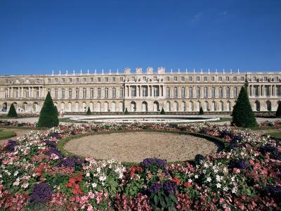Parterre Du Midi and the Chateau of Versailles, Unesco World Heritage Site, Ile De France, France