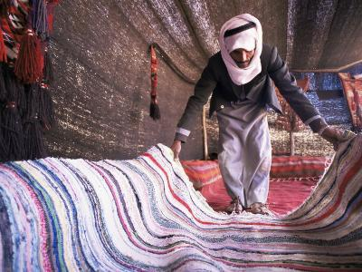 Inside a Bedouin Tent, Sinai, Egypt, North Africa, Africa