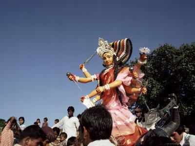 Durga Puja Festival, Varanasi (Benares), Uttar Pradesh State, India